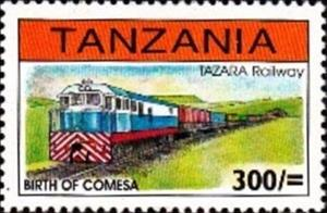 Stamp, Railway, Tanzania,  , Locomotives, Railways