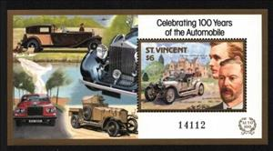 Souvenir Sheet, Charles Rolls, Henry Royce and 1907 Silver Ghost, Saint Vincent and The Grenadines,  , Anniversaries and Jubilees, Cars, Engineers