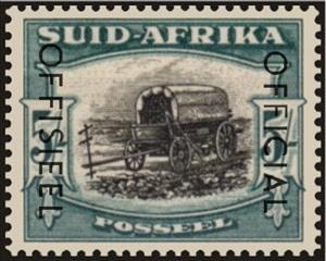 Stamp, Ox-wagon outspanned, South Africa,  , Carriages