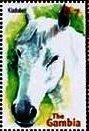 Stamp, Kladruber, Gambia,  , Animals (Fauna), Horses