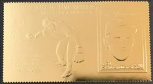 Stamp, Red Schoendienst, Saint Vincent and The Grenadines,  , Baseball, Famous People, Seals (Emblems)