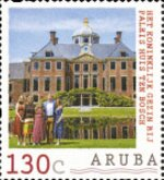 Stamp, Royal Family and Palace Huis ten Bosch, Aruba,  , Buildings, Palaces