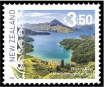 Stamp, Fitzroy Bay, New Zealand,  , Landscapes