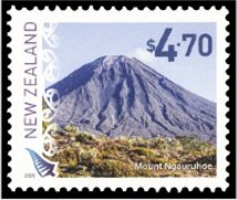 Stamp, Mount Ngauruhoe, New Zealand,  , Landscapes