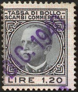 Stamp, Tassa di Bollo, Italy,  , Famous People, Heads of State, Kings, Men, Postal Services, Royalty