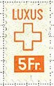 Stamp, Luxury Tax - Swiss Cross, Switzerland,
