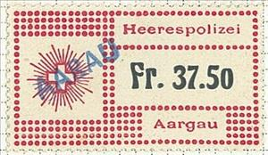 Stamp, Military Police Aargau - Swiss Cross, Switzerland,  , Coats of Arms