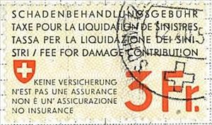 Stamp, Insurance - Swiss Cross, Switzerland,  , Coats of Arms
