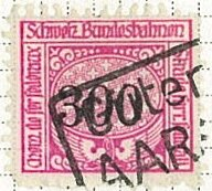 Stamp, Federal Railways, Switzerland,