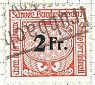 Stamp, Federal Railway, Switzerland,