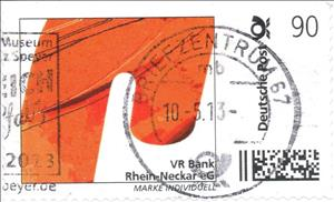 Stamp, VR Bank Rhein-Neckar eG, Personalized & Private Mail Stamps,  , Banks