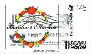 Stamp, Wedding Bianka & Markus, Personalized & Private Mail Stamps,  , Weddings
