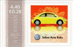 Stamp, Saksa Auto Kaks, Personalized & Private Mail Stamps,  , Cars
