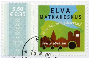 Stamp, Elva matkakeskus, Personalized & Private Mail Stamps,  , Tourism, Transport