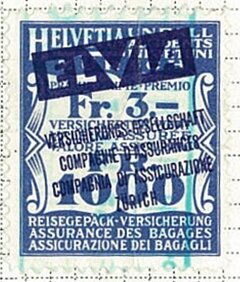 Stamp, Railway Goods Insurance, Switzerland,