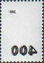 "Overprint ""400"" on definitive stamp №220 «Abklatsch»"