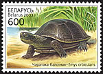 Stamp Reptiles of Belarus - Pond turtle
