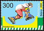 Stamp Modern children's sports – Roller skates