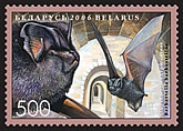 Stamp Bats of Belarus - Barbastelle