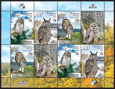 Sheetlet Owls of Belarus (2 sets)
