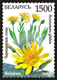 Stamp Endangered plants of Belarus – Scorzonera