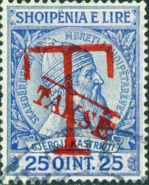 Overprinted with Red T and Takse