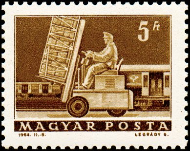 Hydraulic lift truck & mail car.
