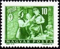 Girl pioneer and woman letter carrier