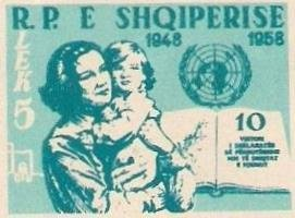 Mother and Child, open Book and UN Emblem
