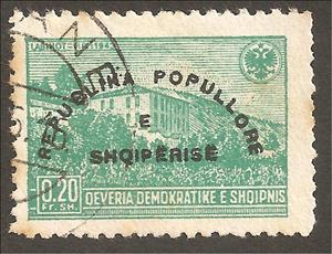 Stamp, Reissue of No. 379 with Overprint, Albania,  , Landscapes