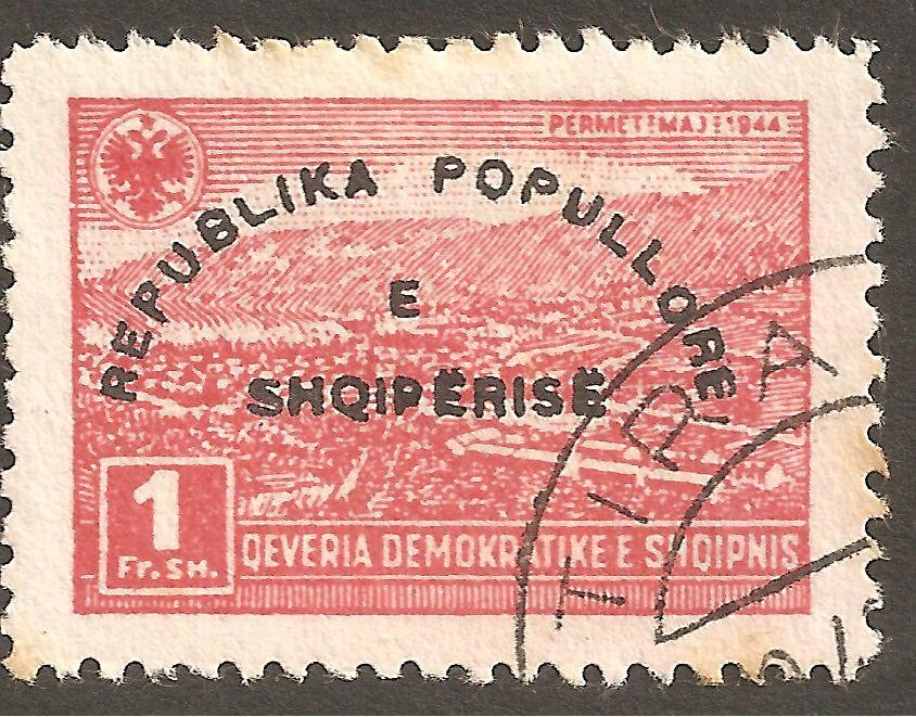 Reissue of No. 383 with Overprint