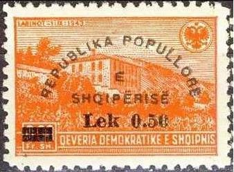 No. 402 with Overprint