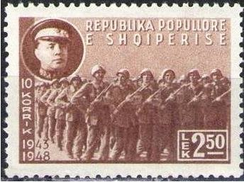 Enver Hoxha and Fighters on the March