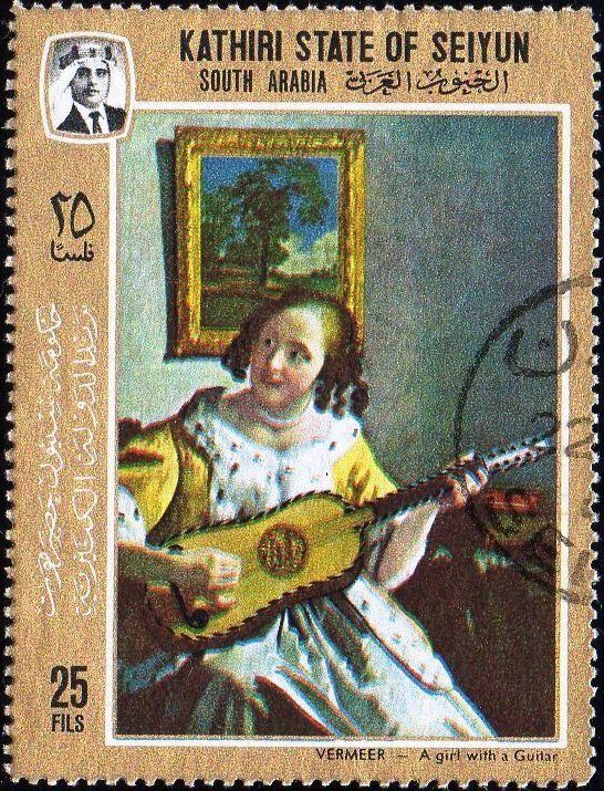 A girl with guitar