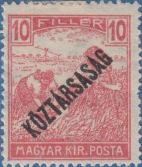 Reaper with 'Republic' overprint