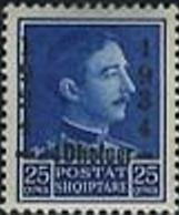 King Zog I. with Overprint