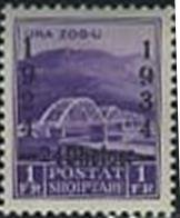 Ahmet Zog Bridge over the Mat with Overprint