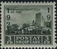 Ruins of Fortress Zogu with Overprint