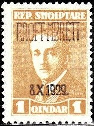No. 133 with Overprint