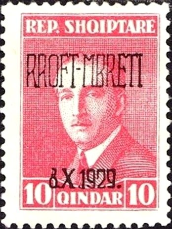No. 136 with Overprint