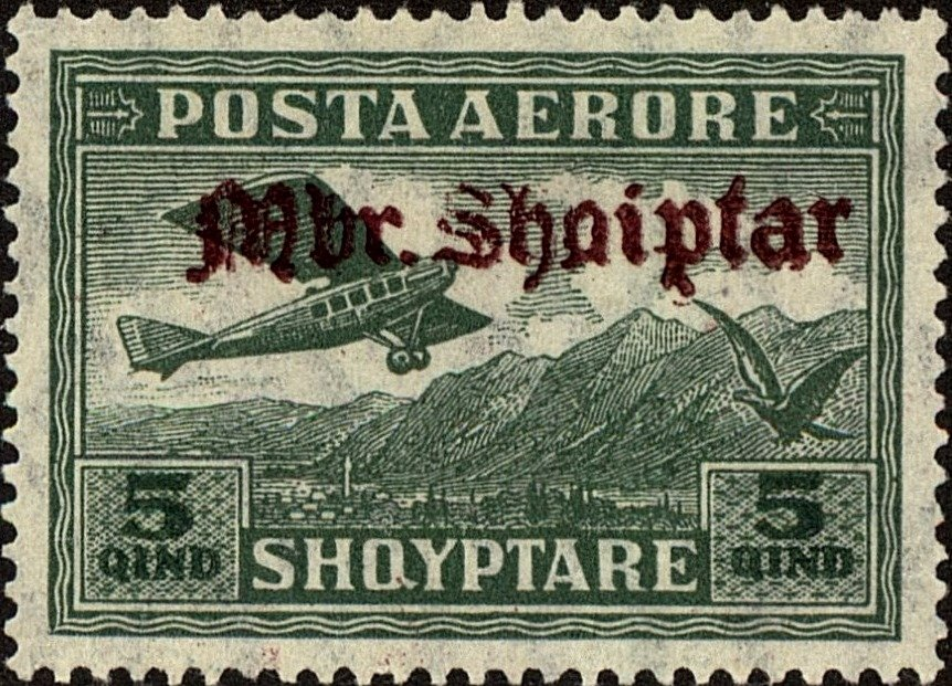 No. 126 with redbrown Overprint
