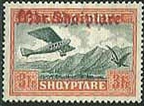 No. 132 with redbrown Overprint