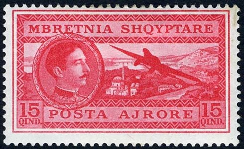 King Zog & Airplane over Tirana