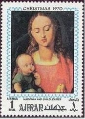 Madonna with apple, by Albrecht Dürer