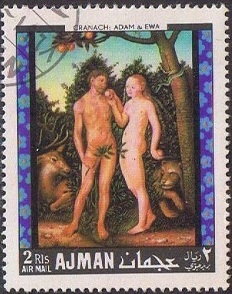 Adam and Eve by Lucas Cranach t.E. (1472-1553) german painte
