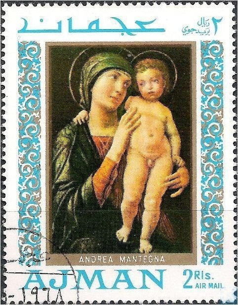 Madonna with child, by  Mantegna