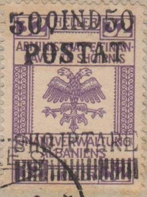 Revenues of the Austrian Administration with Overprint