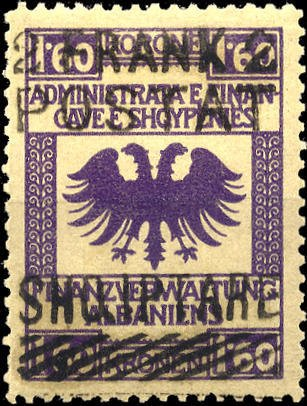 Revenues of the Austrian Administration with black or purple