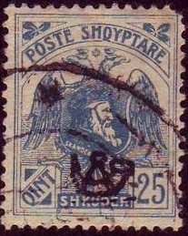 Postalstamp with overprint