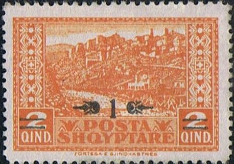 Postalstamp MiNr83 with new overprint
